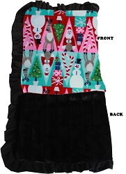 Luxurious Plush Pet Blanket Christmas Medley 1/2 Size